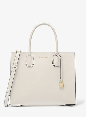 MICHAEL Michael Kors MK Mercer Large Saffiano Leather Tote Bag - Light Sand - Michael Kors