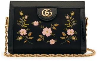 Gucci Ophidia Snake-trim Satin Cross-body Bag - Black Multi