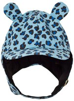 Mini Rodini Blue Leopard Print Trapper Hat with Ears