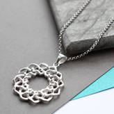 Celtic Martha Jackson Sterling Silver Silver Love Knot Necklace