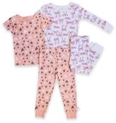 Rosie Pope® 4-Piece Bows Pajama Set in in Pink
