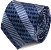 Cufflinks Batman Logo Pinstripe Blue 100% Silk Tie