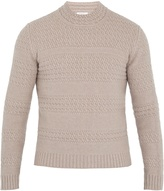Boglioli Striped cable-knit wool-blend sweater