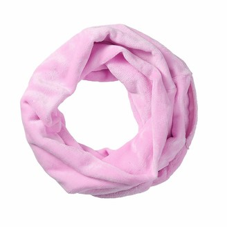 """Fhuuly Women Solid Winter Convertible Infinity Scarf Pocket Loop Zipper Pocket Scarves-Polyester-170cmx23cm/66.9"""" x9.1 Hot Pink"""