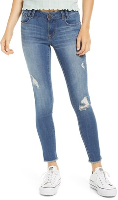 1822 Denim Distressed Ankle Skinny Jeans