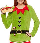 SECRET SANTA Secret Santa Shorts Pajama Set-Juniors