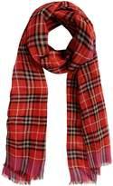 Burberry check wool silk scarf