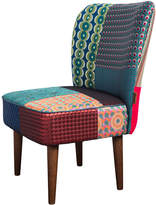 Desigual Patchwork Jacquard Chair - Green