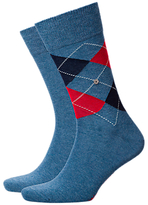 Burlington Light Denim Socks, One Size, Pack Of 2, Light Denim