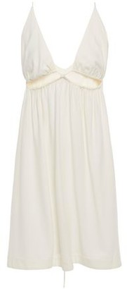 Adriana Degreas Gathered Cutout Crepe Mini Dress
