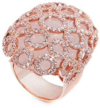 Carla Amorim 18kt Rose Gold, Quartz And Diamonds Salt Flower Ring