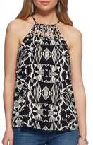 Jessica Simpson Romina Abstract-Print Halter Top