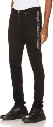 Keiser Clark Racer Jean in Black & Snow Leopard | FWRD