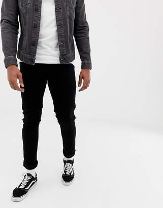 Solid slim fit jeans in black wash