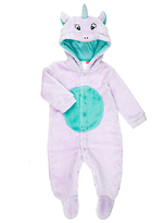 John Lewis Dress Up Unicorn Onesie, Purple