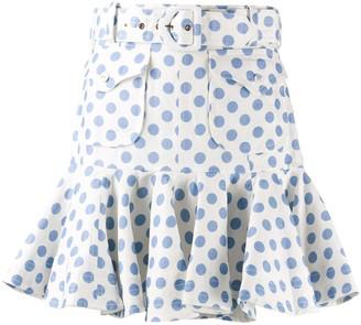 Zimmermann Polka-Dot Print Skirt