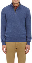 Luciano Barbera Men's Cashmere Mock-Turtleneck Sweater-LIGHT BLUE