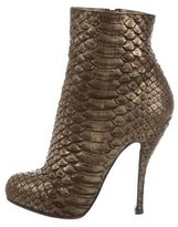 Christian Louboutin Python Ankle Boots