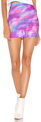 superdown Tikashi Ruched Mini Skirt
