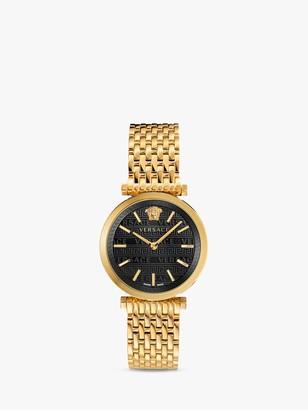 Versace VELS00819 Women's Twist Bracelet Strap Watch, Gold/Black
