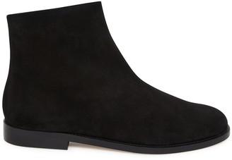 Mansur Gavriel Shearling Flat Ankle Boot - Black