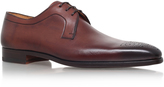 Magnanni Punch Toe Derby In Brown