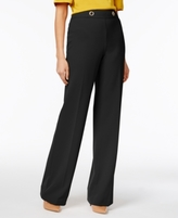 INC International Concepts Petite Grommet Wide-Leg Pants, Created for Macy's