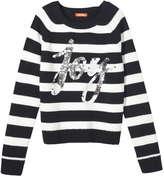 Joe Fresh Kid Girls' Reversible Sequin Graphic Sweater, Off White (Size M)