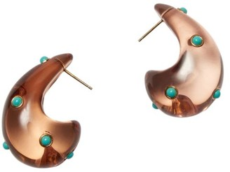 Lizzie Fortunato Arp Acrylic & Turquoise Abstract Teardrop Post Earrings