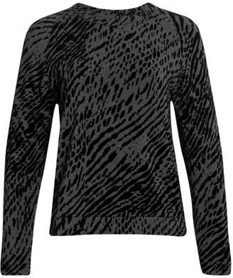 Majestic Filatures French Terry Zebra-Print Sweater