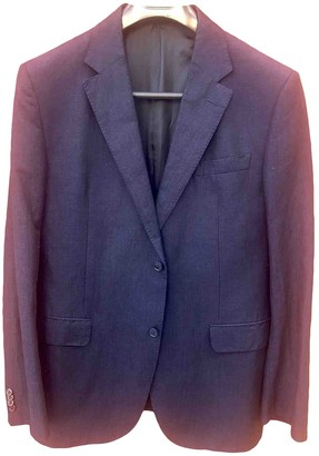 Valentino Blue Wool Suits