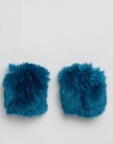 Asos Bright Blue Faux Fur Cuffs