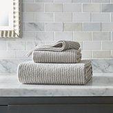 Crate & Barrel Marimekko Ilta Grey Striped Bath Towels