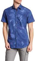 Stone Rose Shaded Geometric Print Short Sleeve Shirt