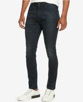 Kenneth Cole New York Men's Skinny-Fit Whiskered Denim Jeans