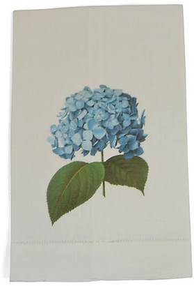 Set of 2 Hydrangea Guest Towels - Blue - The French Bee