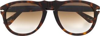 Persol Tortoiseshell Round-Frame Sunglasses
