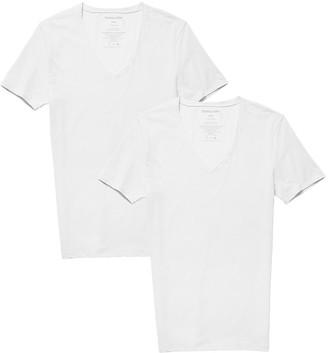 Tommy John Basics Stay-Tucked Deep V-Neck Undershirt - Pack of 2