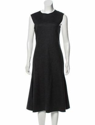 The Row Sleeveless Midi Dress grey