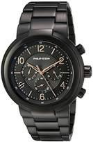 Philip Stein Teslar Men's 'Active' Quartz Stainless Steel Casual Watch, Color:Black (Model: 32-ABRG-BSS)