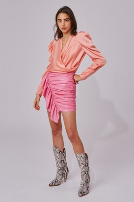 C/Meo AS IT GOES SKIRT pink sequin