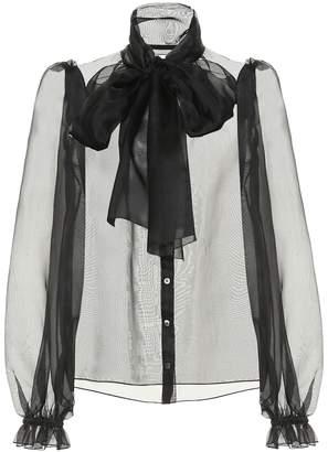 Dolce & Gabbana Silk-organza blouse