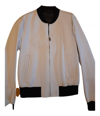 Dolce & Gabbana White Leather Jackets