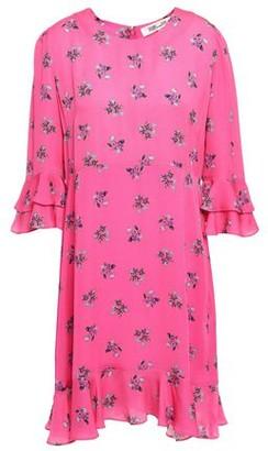 Diane von Furstenberg Ruffle-trimmed Floral-print Crepe Mini Dress