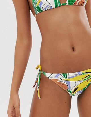 And other stories & side tie bikini briefs in tropical print-Multi