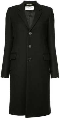 Saint Laurent Single-Breasted Fitted Coat