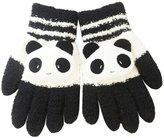 Bestgoo Winter Warm Panda Touchscreen Knit Gloves Cute Cartoon Telefingers Gloves