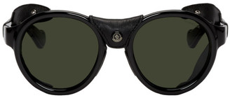 Moncler Black Leather ML0046 Sunglasses