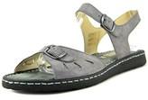 La Plume Trace Women Open-toe Leather Gray Slingback Sandal.
