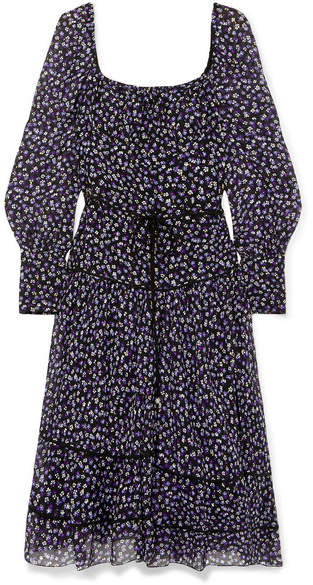 Altuzarra Lahiri Floral-print Silk-georgette Dress - Purple